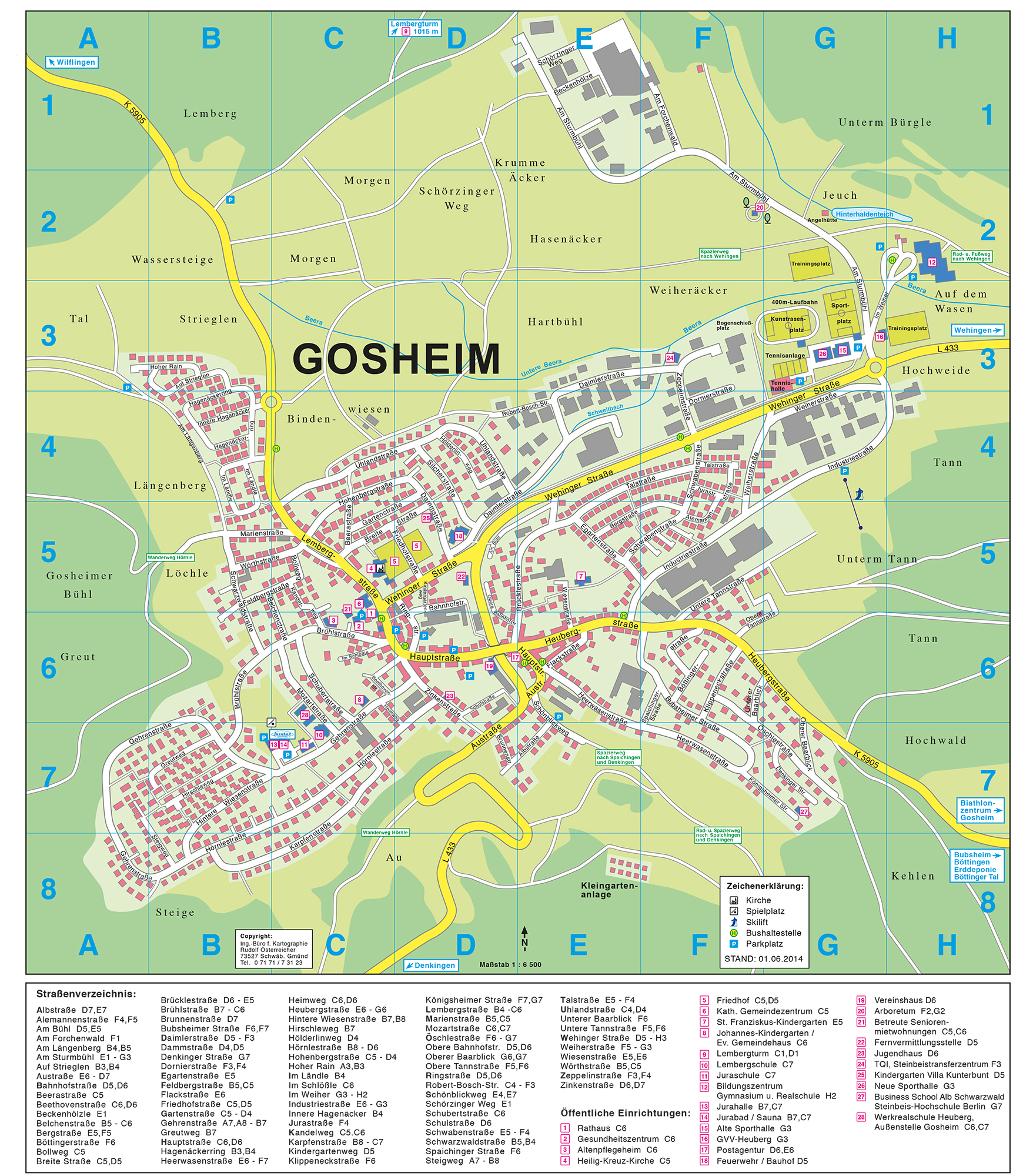 Anfahrt & Ortsplan: Gemeinde Gosheim